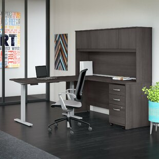 Studio C 4 Piece L-Shaped Desk Office Suite by Bush Business Furniture 2019 Sale