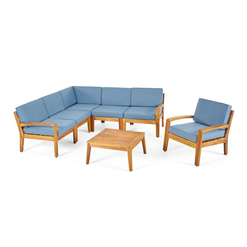 Longshore Tides  Jamie 6 Piece Sectional Seating Group with Cushion