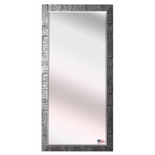 Grain Texture Modern & Contemporary Beveled Wall Mirror