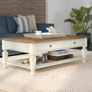 Topsfield Rectangular Coffee Table by Beachcrest Home