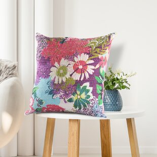 Addora Floral Garden Cotton Throw Pillow