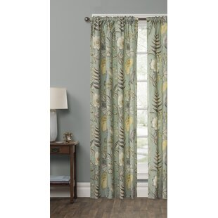 Devizes Butterfly Botanical Floral Room Darkening Rod Pocket Single Curtain Panel by Canora Grey