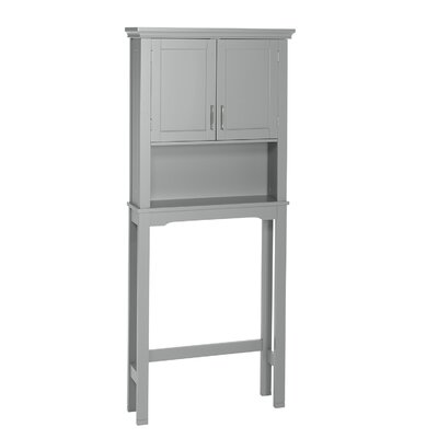 Andover Mills Reichman 27.3 W x 64.2 H Over the Toilet Storage Finish: Gray