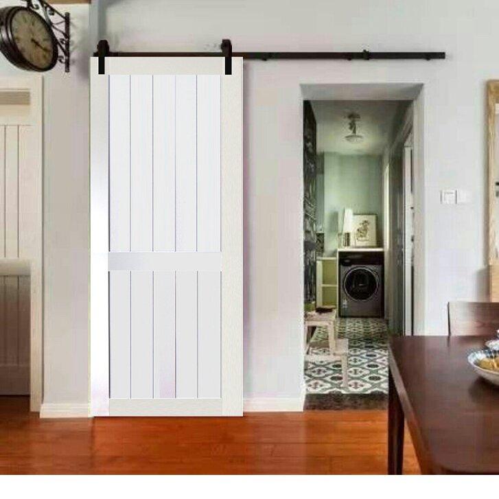 Kiby 2 Panel Solid Wood Panelled Core Pine Slab Interior Barn Door Wayfair