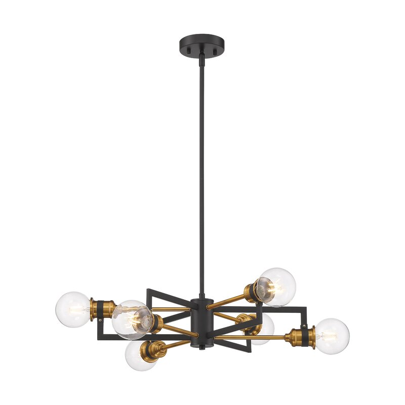 6 Light Sputnik Modern Linear Chandelier Reviews Joss Main