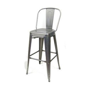 Crosslin 30 Metal-Galvanized Bar Stool (Set of 2) Williston Forge
