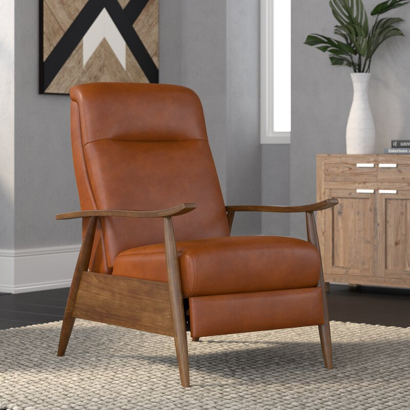 Faux Leather Manual Recliner