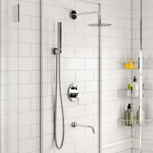 Bustillos Diverter Complete Shower System With 8 Inch Rain Shower, Handheld  And Tub Filler   Includes Rough In Valve