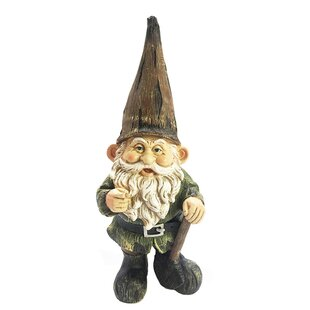 Zelma Resin Gnome With Shovel Statue by Winston Porter