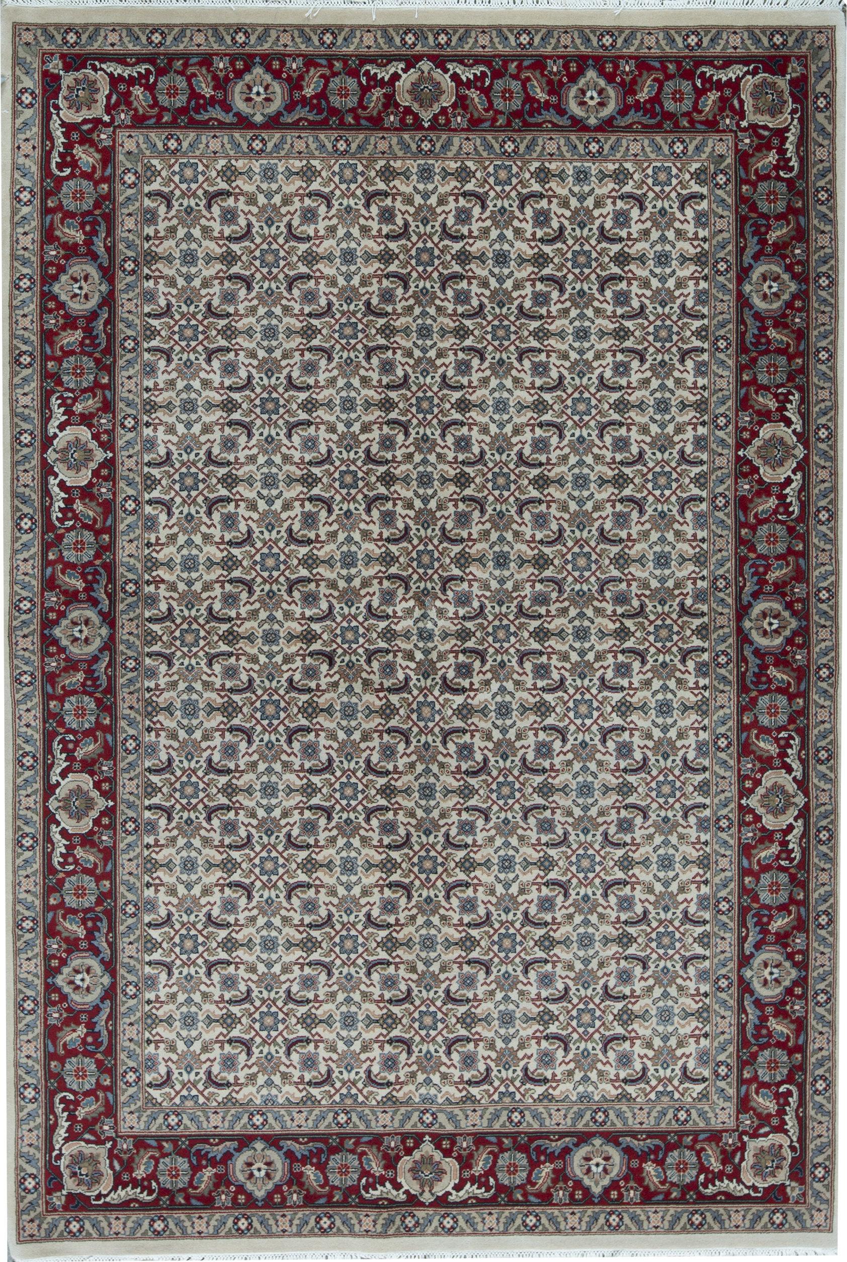 Bokara Rug Co Inc Jaipur Oriental Hand Knotted Wool Ivory Red Area Rug Wayfair