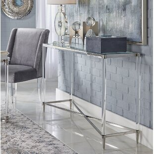 Belisso Acrylic And Stainless Steel Console Table