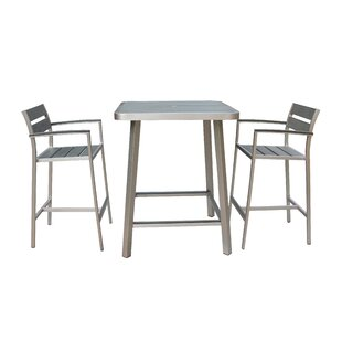 Canaria 3 Piece Bar Height Dining Set