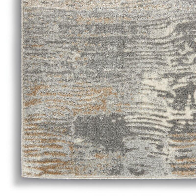 17 Stories Kenwood Abstract Gray Beige Area Rug Reviews Wayfair