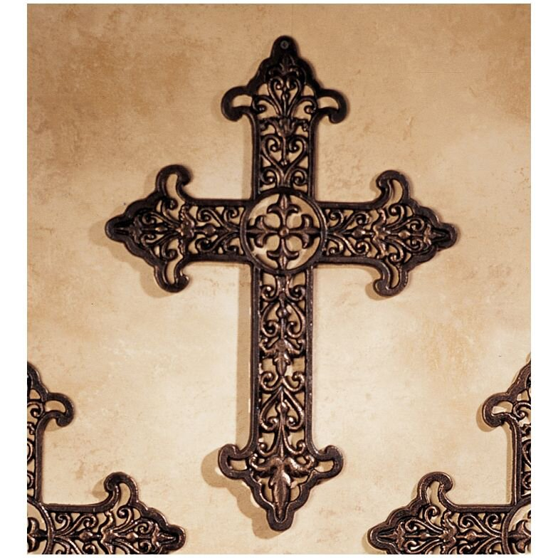 Design Toscano Fleur de Lis Cross Wall Decor & Reviews | Wayfair