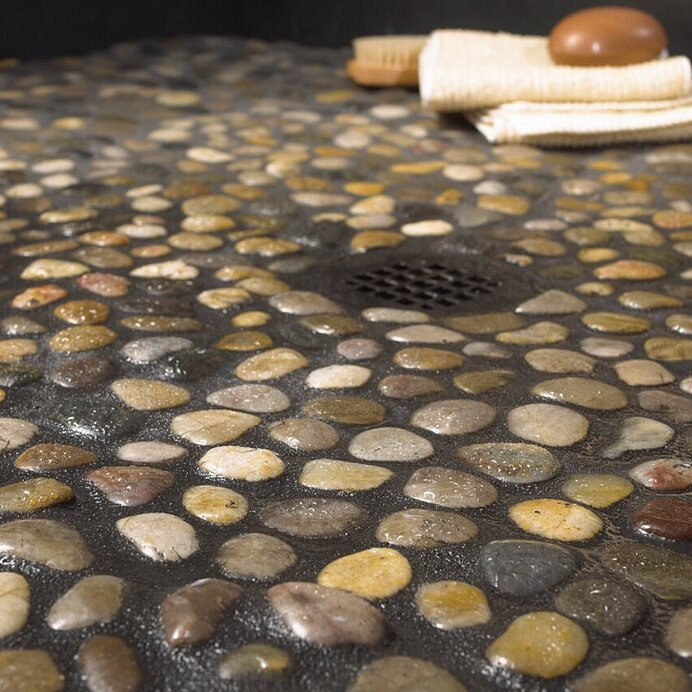 Using Pebble Tile Is A Unique And Visually Ealing Way To Add Natural Beauty Your Home Whether It S For Kitchen Backsplash Shower Floor