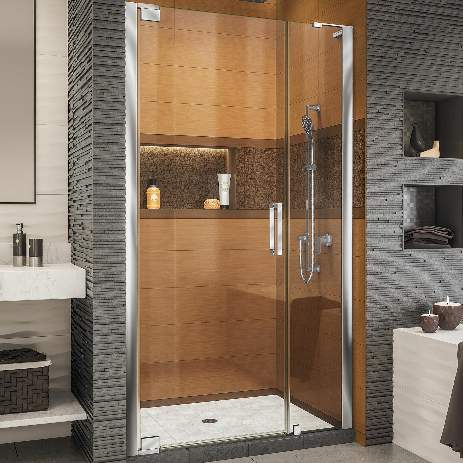Elegance Ls 44 25 X 72 Pivot Frameless Shower Door With Clearmax Technology