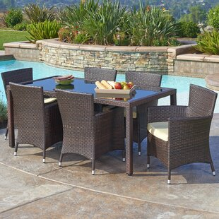 Harkness 7 Piece Dining Set with Cushion by Ivy Bronx