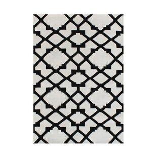 Jonesville Hand Woven Wool Black/White Indoor Area Rug ByRed Barrel Studio