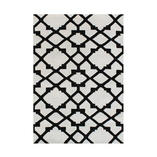 Compare Jonesville Hand Woven Wool Black/White Indoor Area Rug ByRed Barrel Studio