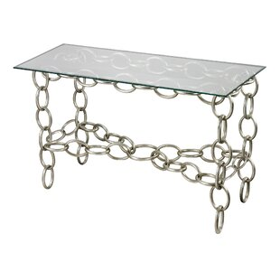 Kloss Chain Console Table with Glass Top