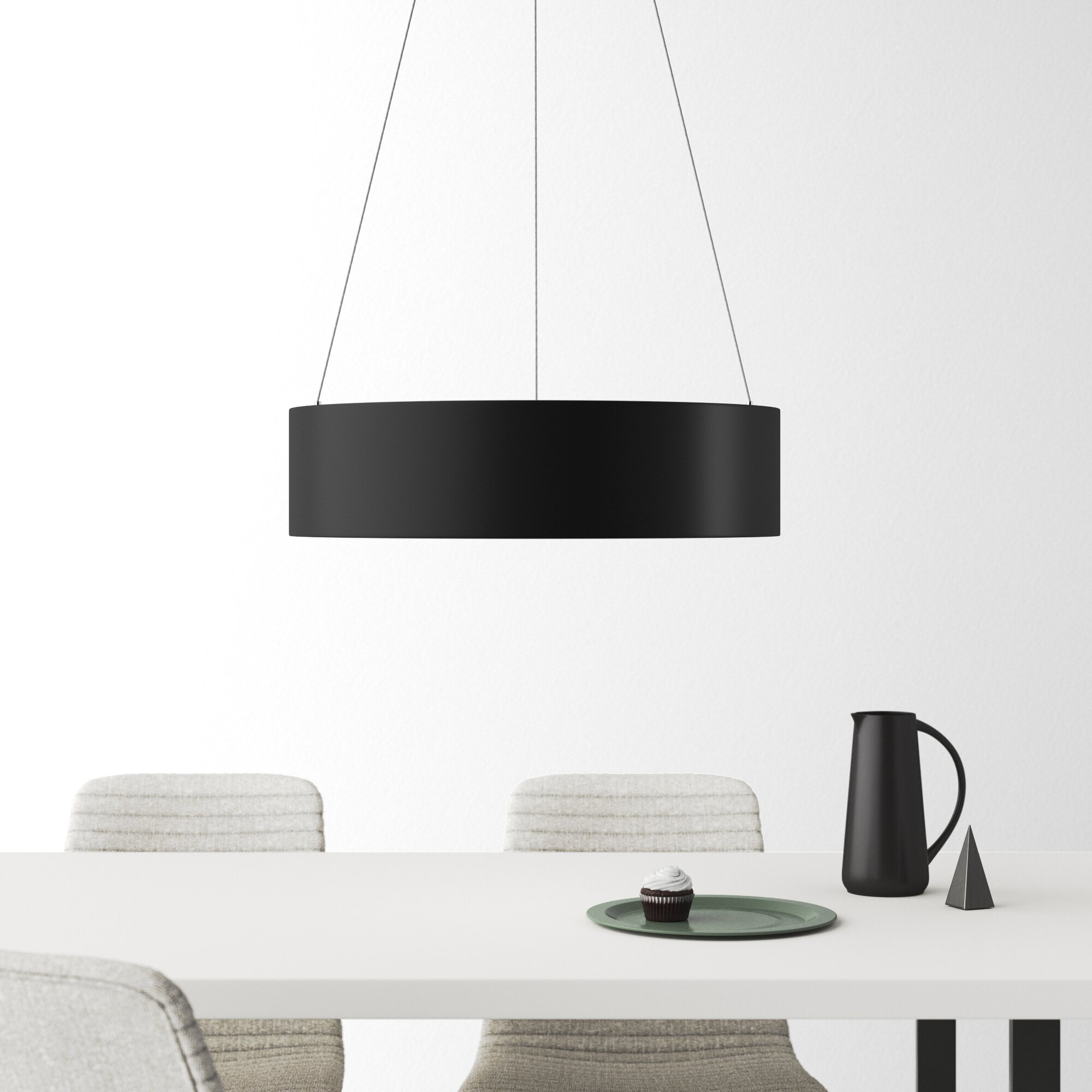 1 Light Statement Geometric Pendant Reviews Allmodern