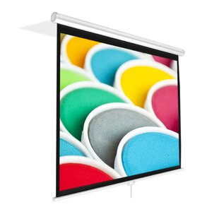 White 84 Manual Projection Screen by Pyle