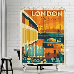 England Londons South Bank Shower Curtain