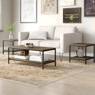 Hallett 3 Piece Coffee Table Set