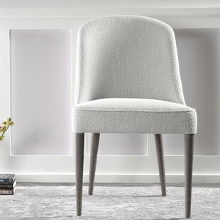Petrillo Upholstered Parsons Chair in Off White Set of 2
