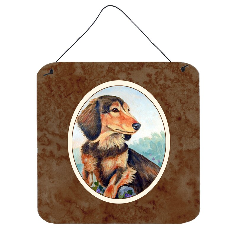Bo... A House Is Not A Home Long Hair Dachshund Indoor Dog Breed Sign Plaque