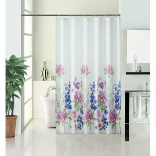 Kathlene Summer Meadow Vinyl Single Shower Curtain