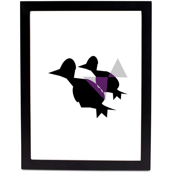 Safiyajamila Black Birds Framed Graphic Art Wayfair