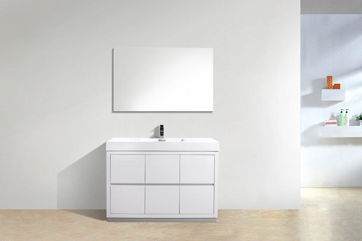 Bathroom cabinets freestanding - Tenafly 48 Single Free Standing Modern Bathroom Vanity Set