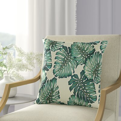 Pina Tropical Leaves Throw Pillow