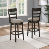 Micaela Swivel Bar & Counter Stool (Set of 2) by Gracie Oaks