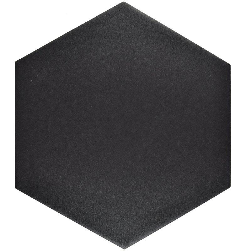 """EliteTile  Tessile Hex 8.63"""" x 9.88"""" Porcelain Field Tile"""