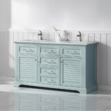 Larry 60 Double Bathroom Vanity Set by Rosecliff Heights
