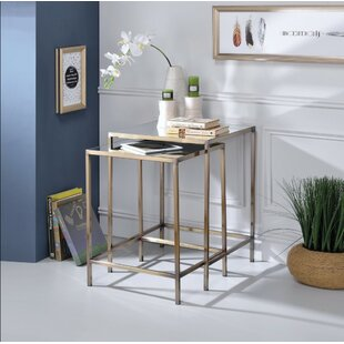 Lucchesi Astonishing 2 Piece Nesting Table Set by Rosdorf Park