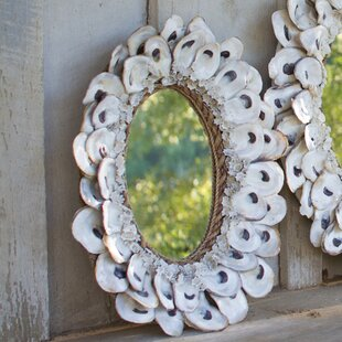 Rosecliff Heights Oyster Shell and Glass Accent Mirror