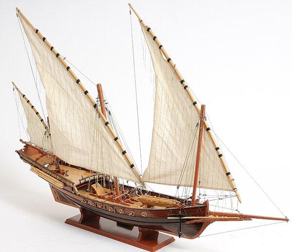 Old Modern Handicrafts Xebec Sailing Model Ship Amp Reviews