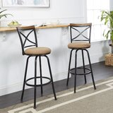 Spokane Adjustable Height Swivel Bar Stool (Set of 2) by Fleur De Lis Living