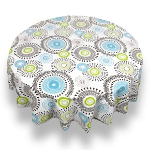 Beau Rayshawn Contemporary Whimsy Print Flannel Back Vinyl Tablecloth