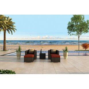 Azariah 5 Piece Sunbrella Conversation Set with Cushions