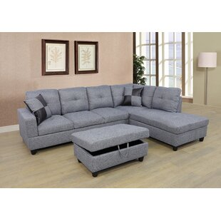 Caliche Modular Sectional with Ottoman by Ebern Designs