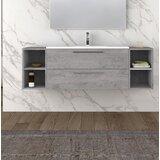 Carnageeragh 63 Wall-Mounted Single Bathroom Vanity Set (Set of 4) by Orren Ellis
