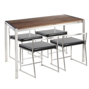 Gary Contemporary 5 Piece Dining Set Wade Logan