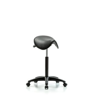 Height Adjustable Saddle Stool