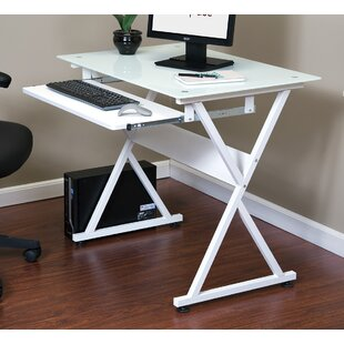 Buy clear Computer Desk By OneSpace