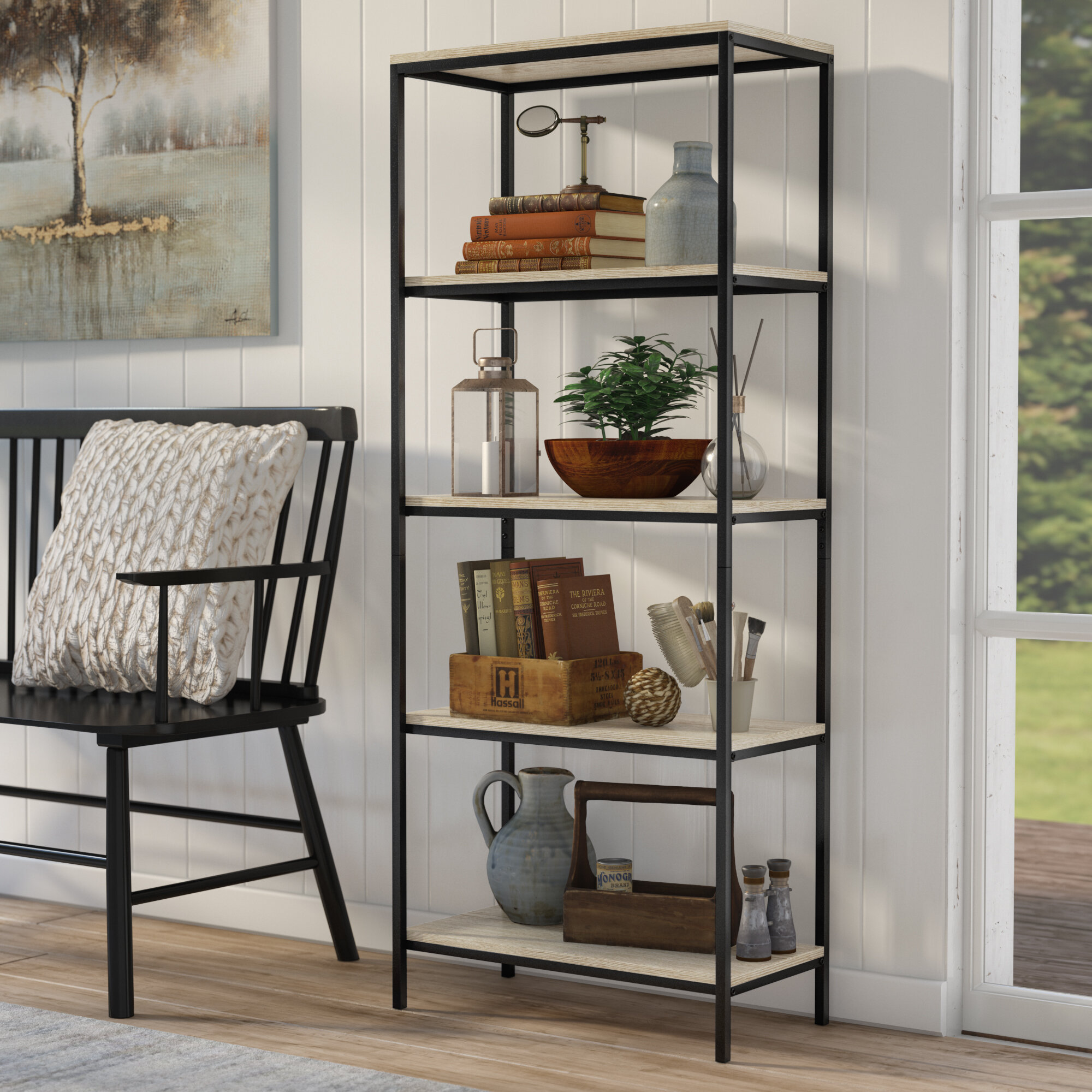 Laurel Foundry Modern Farmhouse Ermont Etagere Bookcase Reviews