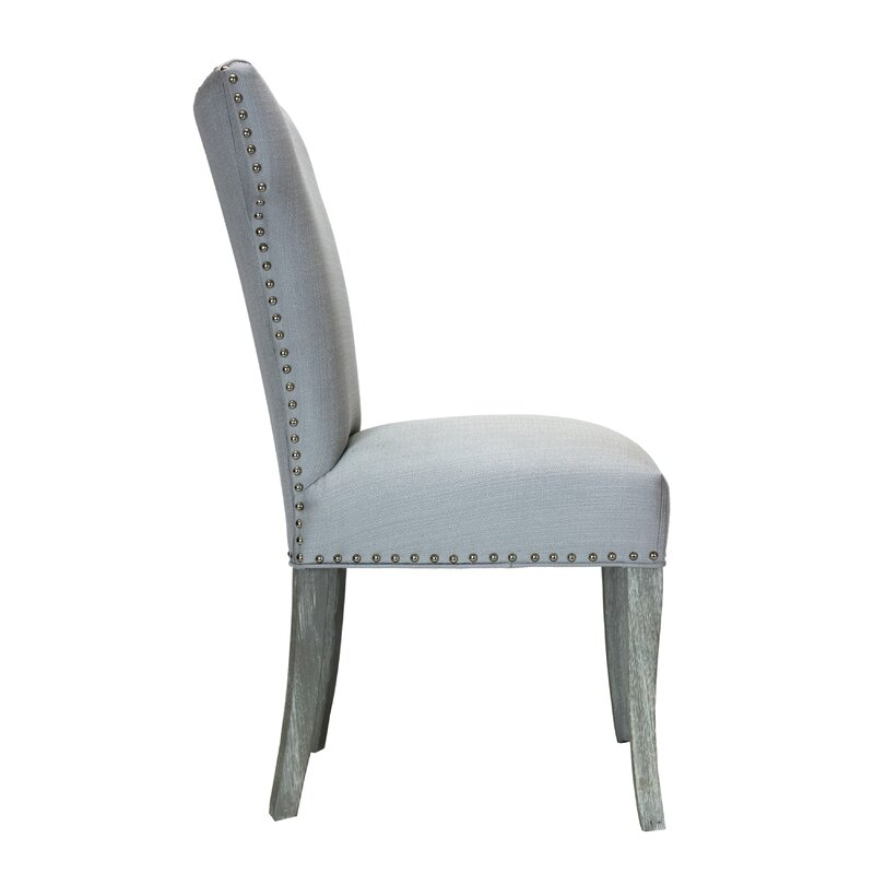 Genial Dougherty Platinum Upholstered Dining Chair